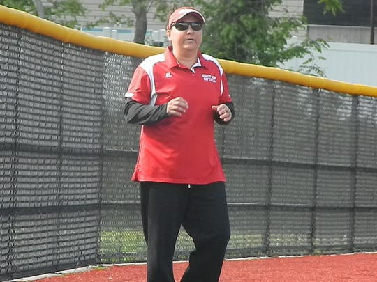 BIshop Ahr's Missy Collazo is the Home News Tribune All-Area Softball Coach of the Year.