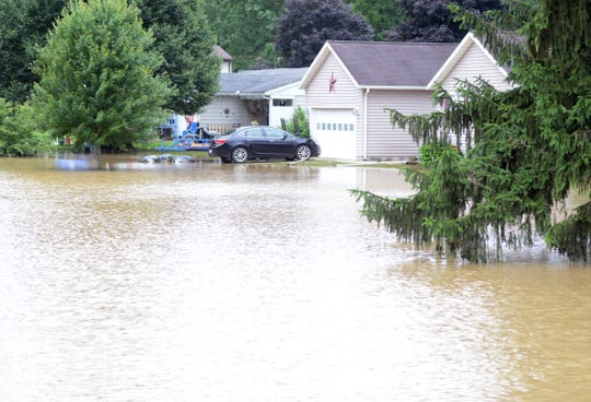 The National Weather Service said about seven inches of rain fell from the evening of July 18 to the morning of the 19th in the West Lafayette area.