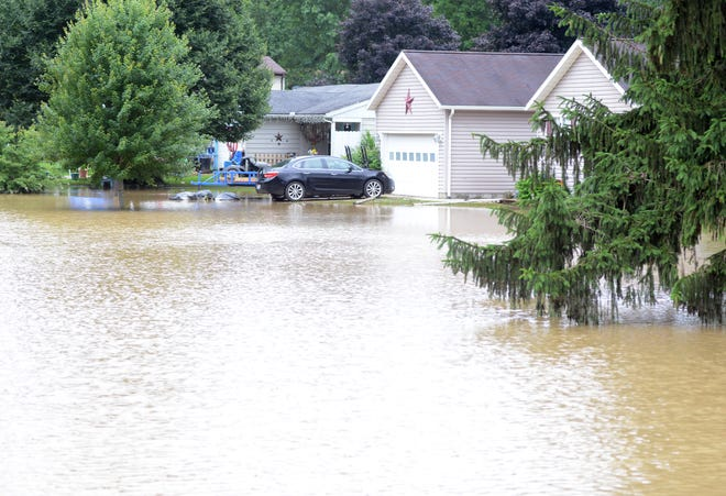 The National Weather Service said about seven inches of rain fell from late Tuesday evening to early Wednesday morning in the West Lafayette area. Mayor Stephen Bordenkircher declared a state of emergency about 2 a.m.