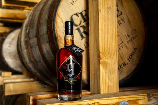 A bottle of the No. 9 Reserve Iowa Whiskey is pictured, Thursday, June 20, 2019, at Cedar Ridge Winery and Distillery in Swisher, Iowa.