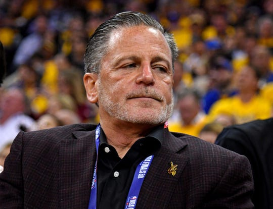 Cleveland Cavaliers owner Dan Gilbert during the third quarter against the Golden State Warriors in Game 1 of the 2018 NBA Finals at Oracle Arena.
