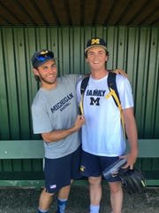 Star Michigan pitchers Tommy Jenry and Karl Kauffmann have been teammates since they were 15 years old.