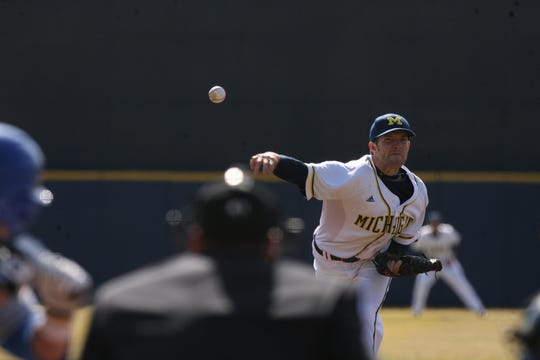 Michigan pitching coach Chris Fetter is the program's all-time leader in innings pitched.