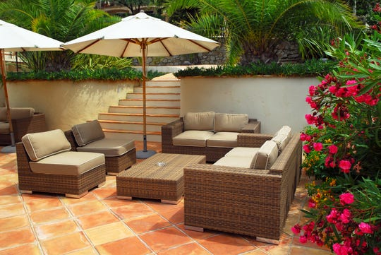 This summer is the perfect time to give your outdoor living space some TLC — it's time to say goodbye to those tired lawn chairs and the chaise lounge that's seen better days.