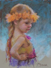 """Little Dancer,"" a pastel work by Lori Beringer, is part of the 10th annual Door Prize for Portraiture exhibit at the Chez Cheryl Artspace in Baileys Harbor. The exhibit opens June 28."