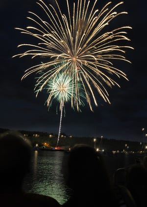 Fireworks for the Fourth of July celebration in Egg Harbor, which actually holds its fireworks show July 3.