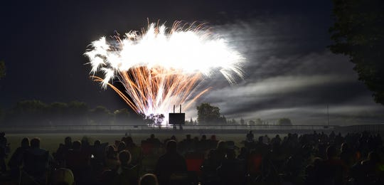 More than 500 people at Baumann Ball Park in Maplewood ooh and ahh over the community's annual Fourth of July fireworks show. The ball field is the prime viewing spot for the show, which takes place this year July 4.