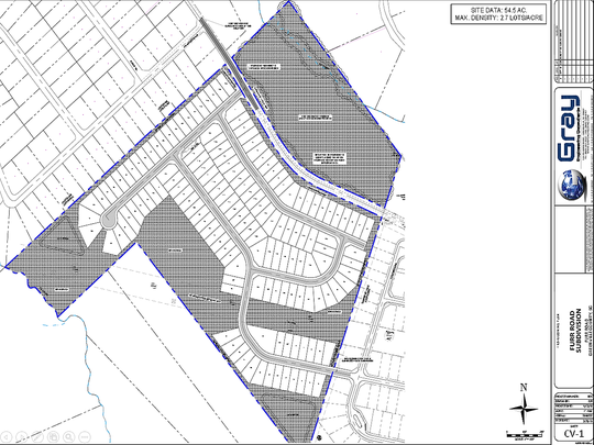 This preliminary plan submitted to Greenville County zoning officials in June 2019 shows the likely layout of 147 homes on 54 acres along Furr Road in Piedmont. Hundreds of neighbors, many of whom say they want to preserve the area's rural nature, have signed a petition saying the roads cannot handle that many new residents.
