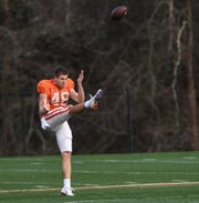 Clemson punter Will Spiers retained his starting position through August camp