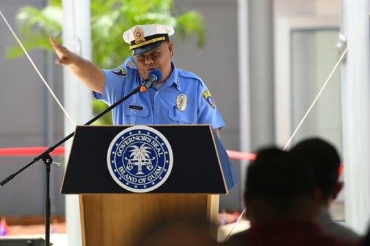 Chief of Police Stephen Ignacio speaks at a June 2019 event. Ignacio said the decrease in price of methamphetamine shows there's a lot of supply, which has translated to more arrests.