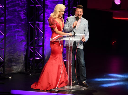Jay DeMarcus and his wife, Allison Alderson DeMarcus, co-host the Miss Tennessee Volunteer Scholarship Pageant.