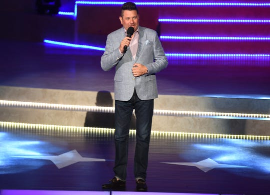 Jay DeMarcus performs during the Miss Tennessee Volunteer Scholarship Pageant.