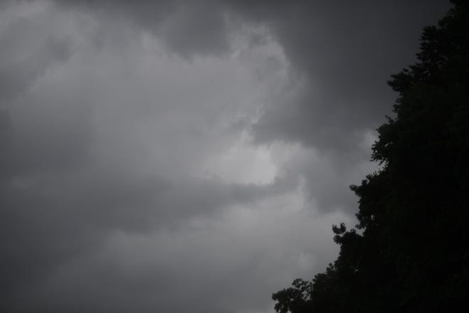 Dark clouds close in on East Knoxville on Thursday, June 20, 2019. Several thunderstorms and tornado warnings have been issued for Knox and surrounding counties.
