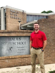"""""""In 2019, I'm back home,"""" said new Halls High School principal Spencer Long on June 19, 2019. """"I believe it was God's plan with the advocacy of Mr. Duff and his mentorship."""" Long hopes to rally the community around improving the facilities and beautifying the façade of the school."""