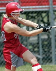 West Lafayette's Ashley Archer drives in two runs in a 6-0 win over Griffith in the 2005 regional.