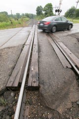 Nine roads that intersect CSX Railroad tracks in Livingston County will close for repairs, including Chilson Road in Genoa Township, shown Thursday, June 20, 2019.