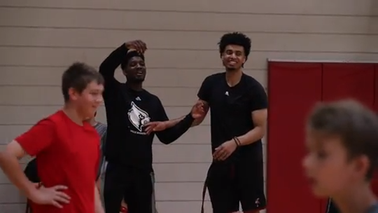 Louisville's Jordan Nwora and Darius Perry on why it's important to have  basketball camps