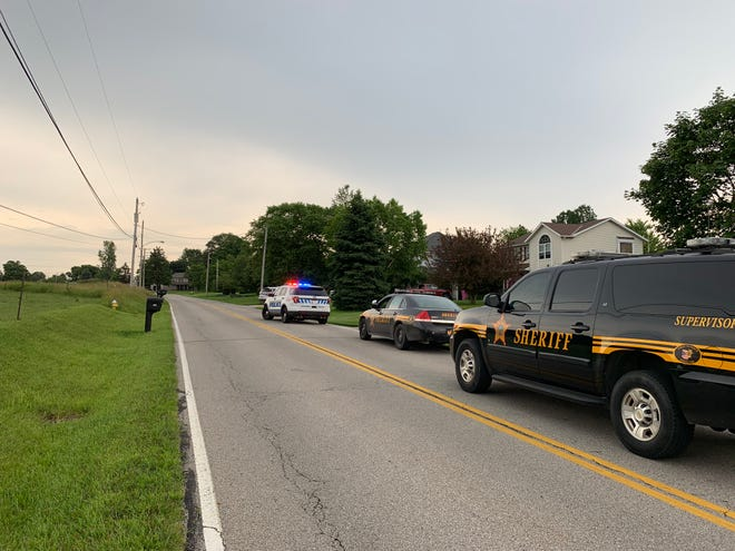 A man was arrested Wednesday evening after police were called to a house on Rock Road in Ontario.