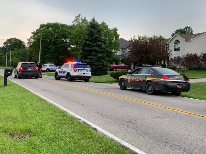 Ontario police responded to a residence on Rock Road shortly after 6 p.m. Wednesday after a man made threatening comments, according to an official at the scene.