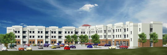 Artist rendering of new housing complex at ULM.