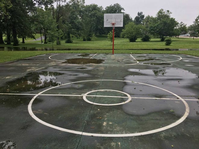 It was too wet to play ball in McCulloch Park on Thursday, the last day of spring.