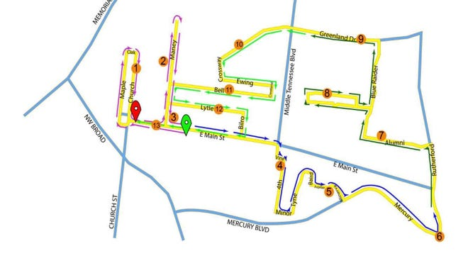 The 13th annual Murfreesboro Half Marathon, set for Oct. 12, has a new course and brand-new starting point.