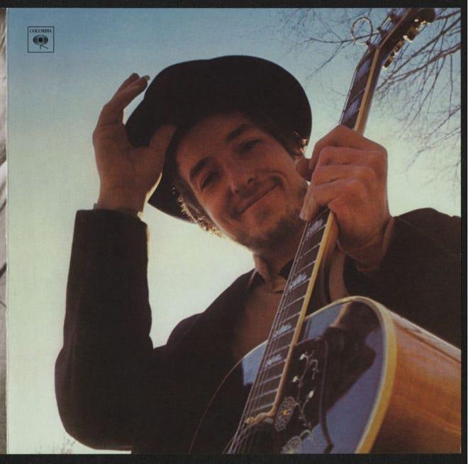 """Artwork for 1969 Bob Dylan album """"Nashville Skyline."""""""