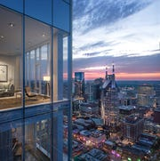 A rendering shows the view from the future Four Seasons Hotel and Private Residences in Nashville.
