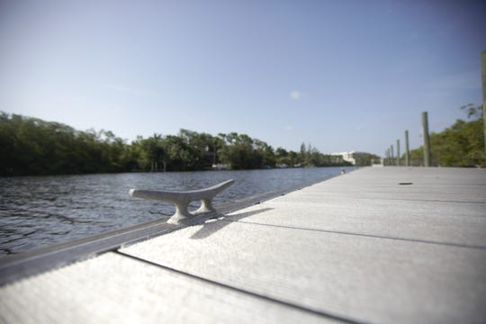 Boat ties line the dock at Bonita Springs' River Park.