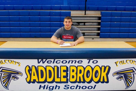 Saddle Brook High School senior Dean Setticase has officially signed his commitment letter to attend and wrestle at Clackamas Community College in Oregon City, Oregon on a full wrestling scholarship. The Clackamas Wrestling Program is the number one junior college program in the country.   Setticase is being rewarded for an outstanding senior season where he had 52 wins and only three losses.  He finished third in the New Jersey State wrestling tournament , took home 4th place at Virginia Beach High School Nationals and first place the MAWA Eastern Nationals.