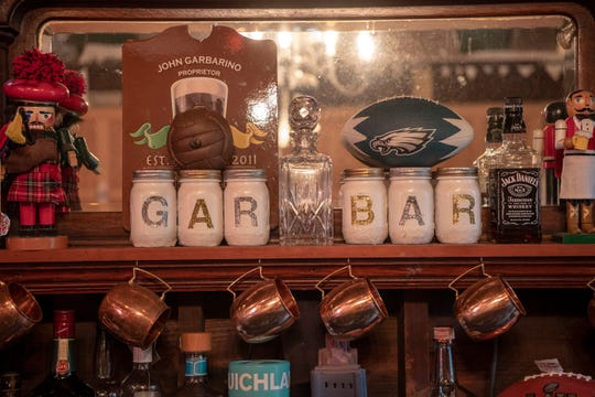 John Garabino's garage bar in Maplewood on Wednesday, June 19, 2019.
