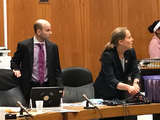 Assistant prosecutors Evan Mongiardo and Jennifer Fetterman are handling the case for the state.
