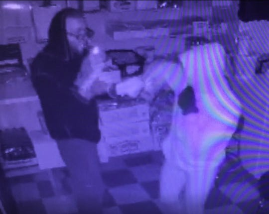 Police in Hasbrouck Heights are looking for a man and a woman who are accused of breaking into the Little League concession stand and stealing money and candy.