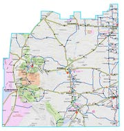 A map from the New Mexico Department of Transportation illustrates how much territory encompasses District 2.