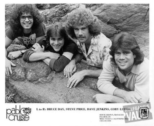 Pablo Cruise during the early years. Three of original band member, Price, Jenkins and Lerios are still with the band decades later.