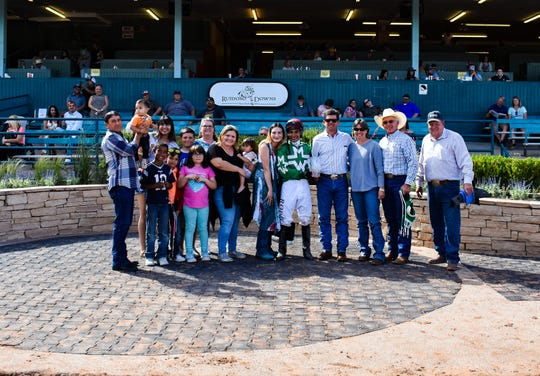 Luis Rodriguez following $30,000 win in Ruidoso Sprint Handicap.