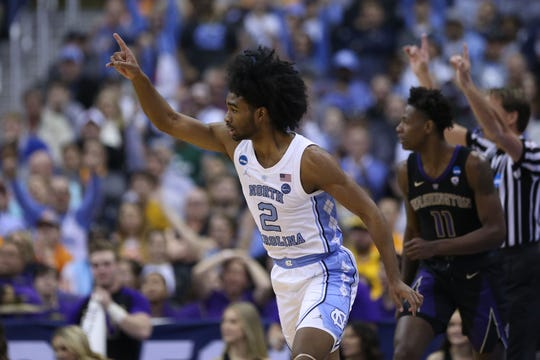 North Carolina guard Coby White.