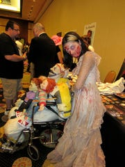 During Mad Monster Party Arizona, fans and celebrities often dress in costume.