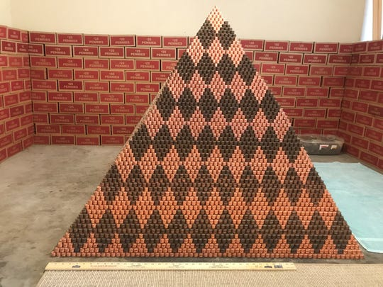 Phoenix YouTuber says it took common cents to build record-setting pyramid
