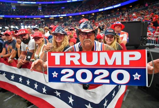 Seguidores de Trump en uno de sus rallys.