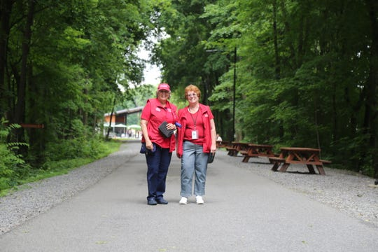 Anita Jone and Ida Mikula, are two of the 170 ambassadors that fundraise, volunteer and take care of the walkway.