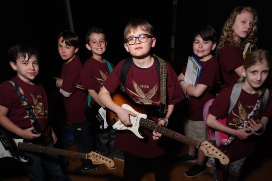 Michael Apollonio, left to right, Nathaniel Hoag, Bruce Defonce, Anthony Landry, Alex Lutomski, Kate Carrolla and Bridget McDermott are members of The Falcons who will perform June 22 at The Falcon in Marlboro. Not pictured, but also playing in the band, is Shane Kobak.