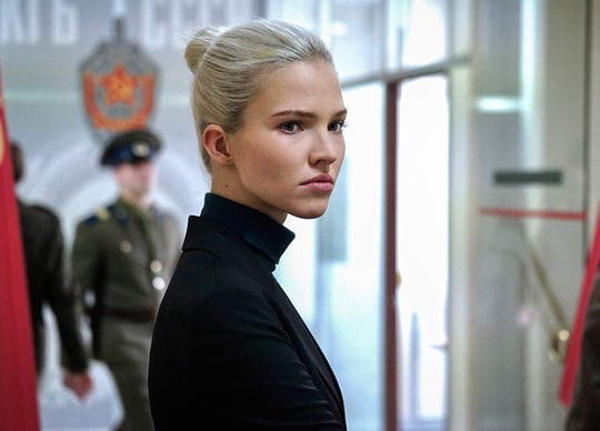 """Sasha Luss stars in """"Anna,"""" playing at Regal West Manchester, Frank Theatres Queensgate Stadium 13 and R/C Hanover Movies."""