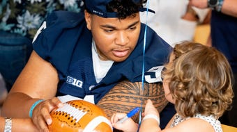 On June 19, 2019, The Penn State football team visited the Milton S. Hershey Medical Center Children's Hospital to play games with young fans.