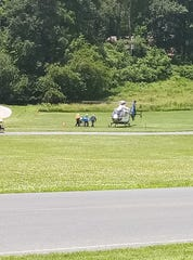 A crash Thursday resulted in a 17-year-old passenger lifted by helicopter to the York Hospital trauma center.