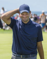 Tony Romo is the defending champion in the ACC celebrity golf tournament.
