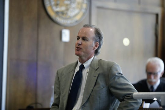 Prosecutor Cliff Zall of the California Attorney General's Office makes his closing argument at the Shasta County Superior Court on Thursday, June 20.