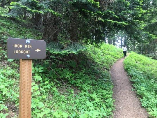 Trail to Iron Mountain.