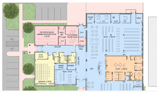 Eastern Shore Regional Library floor plan