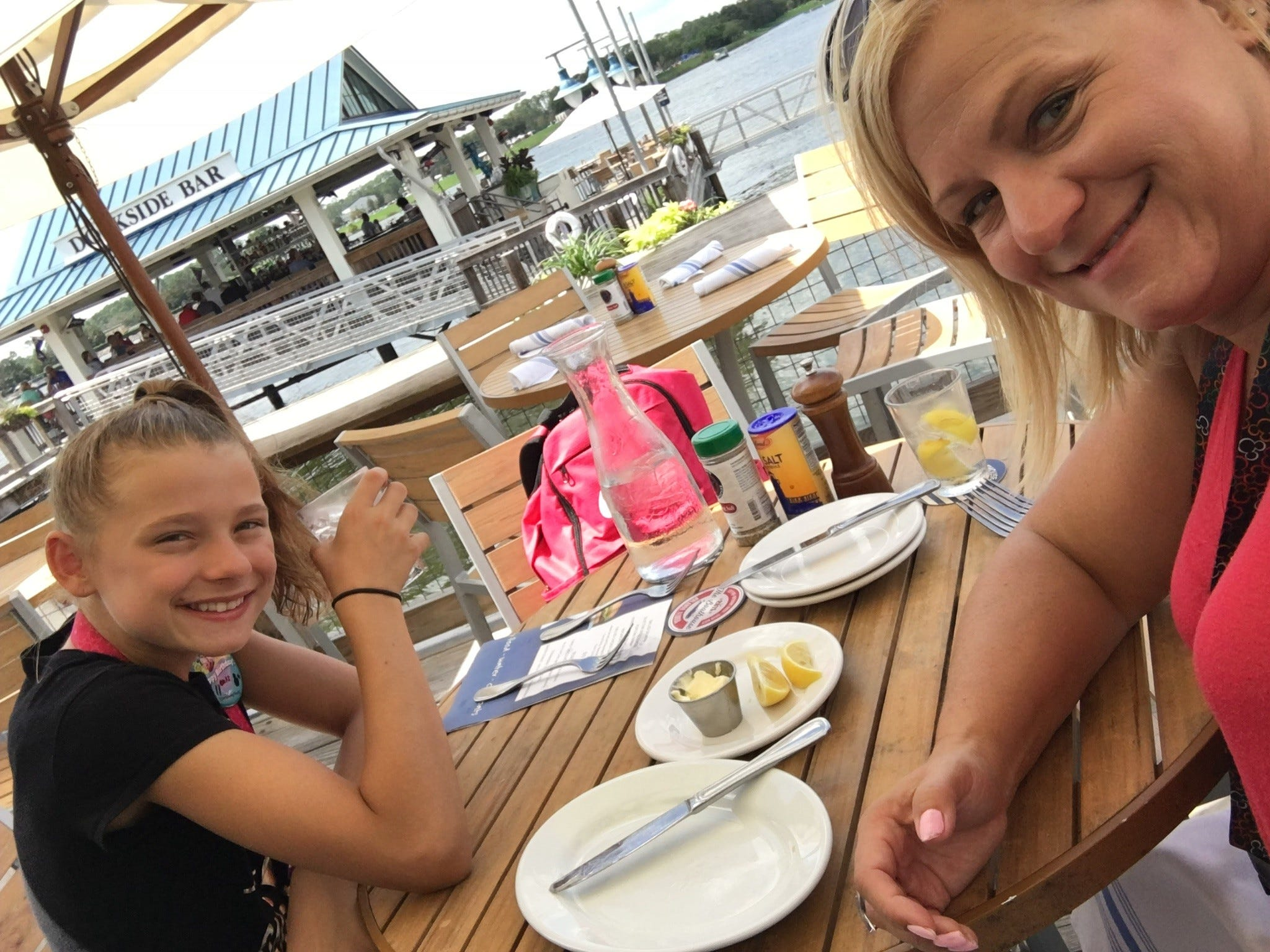 Paula Sonsalla Bisek on vacation with her daughter. She says she is shopping less these days and spending more time showing her daughter that life isn't about the things one buys but more so who someone is.